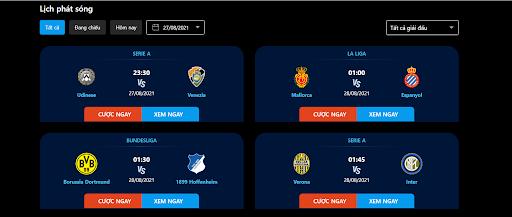 123vao cung cấp thông tin về hầu hết các giải đấu hiện nay